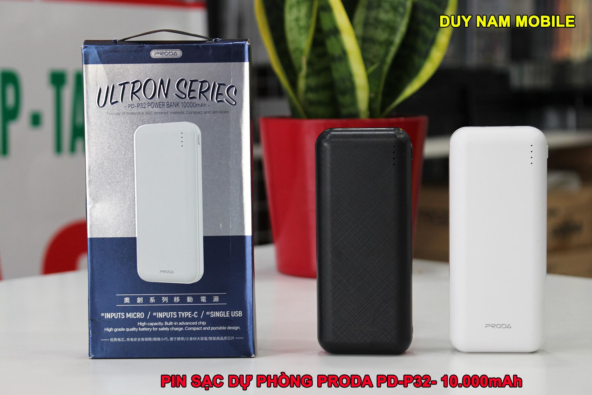 Pin sạc dự phòng proda 10000mAh PD-P32